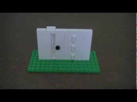 Tutorial Lego Hinged Door Youtube