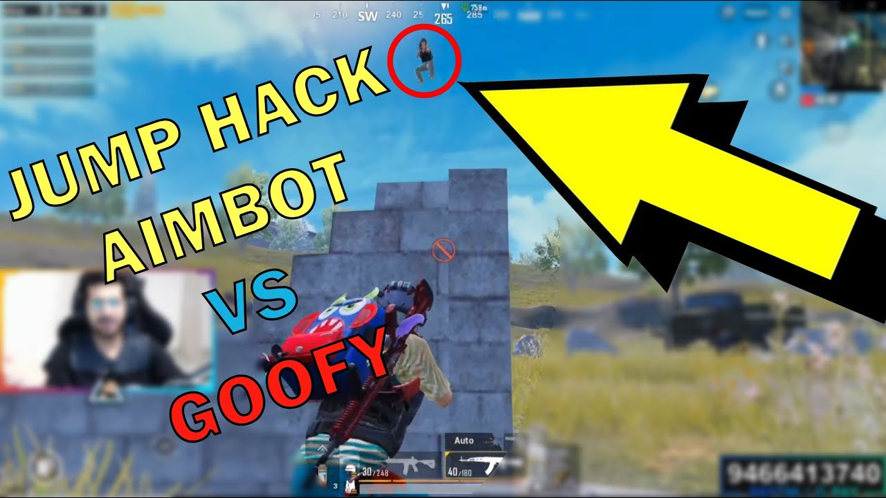 AIM BOT + JUMP HACK PUBG MOBILE HACKER VS GOOFY GAMES