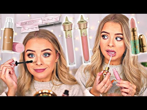 OOOH NEW MAKEUP.. MY HONEST THOUGHTS- JEFFREE GLOSS, BENEFIT FOUNDATION, TOO FACED MASCARA etc! thumbnail