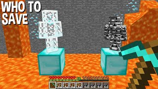 Which BLOCK TO BREAK to save BEDROCK MAN or GLASS MAN in Minecraft ???
