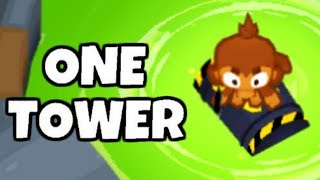 How Long Can You Survive Using Only The Barrel? (Bloons TD 6)