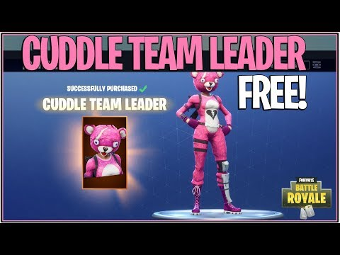 *NEW* Fortnite: HOW TO GET THE CUDDLE TEAM LEADER SKIN FREE! | (Battle Royale Giveaway)
