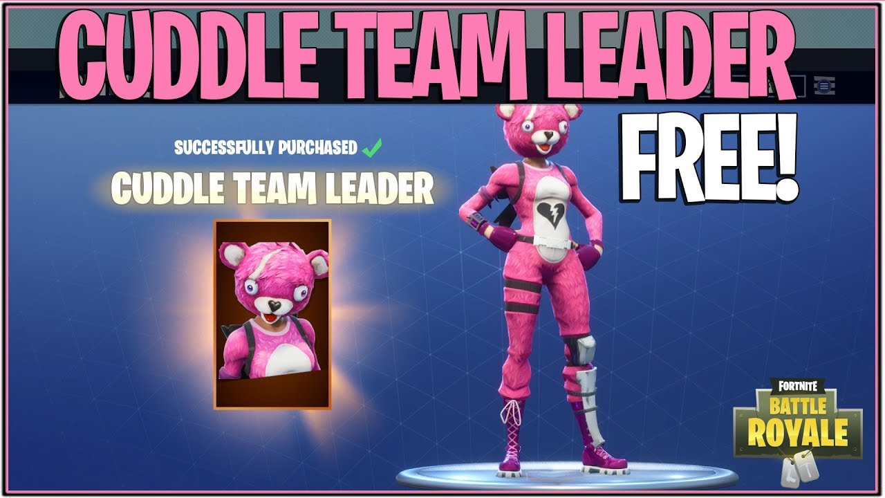 New fortnite how to get the cuddle team leader skin free battle royale giveaway youtube - Cuddle team leader from fortnite ...