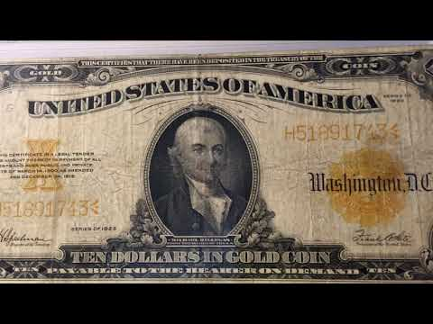 US Currency Collection : Part 2 - Gold Certificates