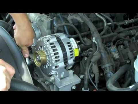 HOW to REPLACE INSTALL ALTERNATOR 2004 GMC YUKON DENALI TAHOE SIERRA