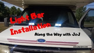 🚐 RV Light Bar Installation - Part 1 - Installing Light Bars on a Class C RV  Motorhome