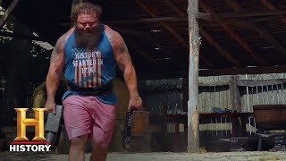The Strongest Man in History: Anvil Lift Challenge (Season 1) | History
