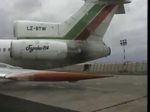 THE SIGHT & THE SOUND 7/10 : Balkan Bulgarian TU-154M LZ-BTW documentary from SOF to Bourgas