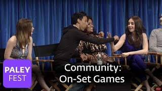 Community - Alison Brie and Joel McHale Play Some On-Set Games