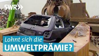 Moderne Diesel-Autos in der Schrottpresse