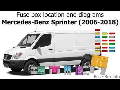 Fuse box location and diagrams: Mercedes-Benz Sprinter (2006-2018) - YouTubeYouTube