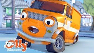 Cars for Kids - Bazza the Orange Van | Transport for Kids | Olly the Little White Van