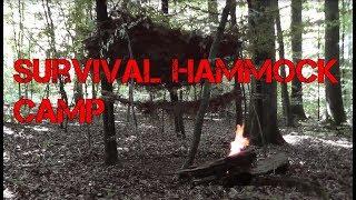 Primitive Survival Bushcraft Camp with Hammock