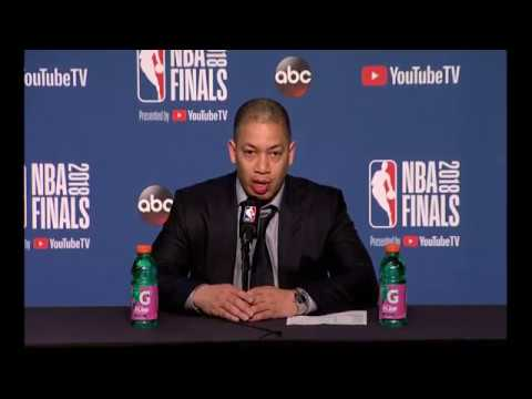 Tyronn Lue   Game 4 Finals Press Conference