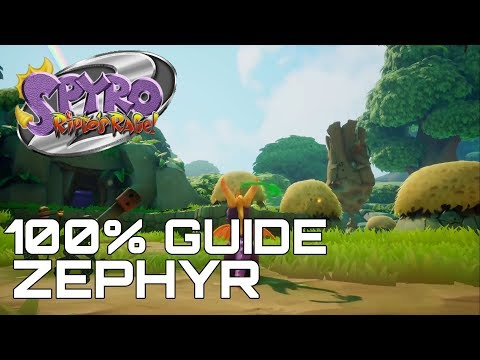 Spyro 2 Ripto's Rage (Reignited) 100% Guide ZEPHYR (ALL ORBS, GEMS...)