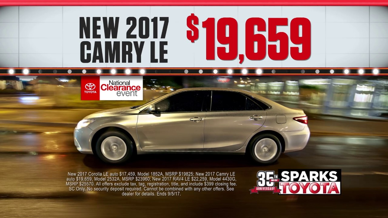 Sparks toyota national clearance event youtube