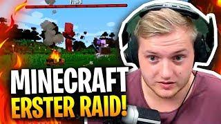 ⚔😳 Mein erster Raid in Minecraft?!  👨🏼🌾😂 Moin Leute Landwirt hier!