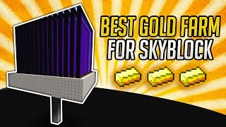 Minecraft Best Gold Farm for Skyblock