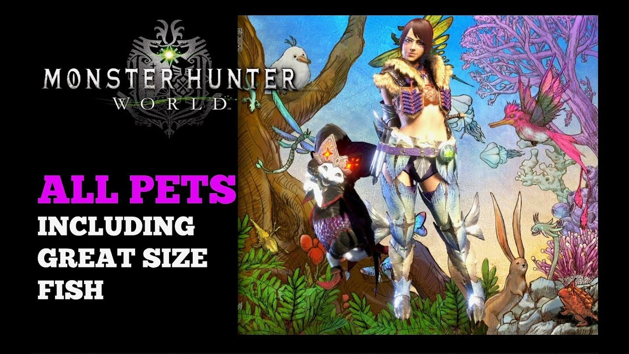All Pets Monster Hunter World - All Endemic Life Locations (Incl. great size fish)