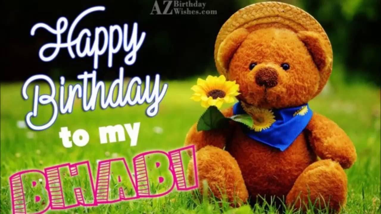 Happy Birthday Wishes For Bhabhi Ji Happy Birthday Brother Happy Birthday Wishes Happy Birthday Fun