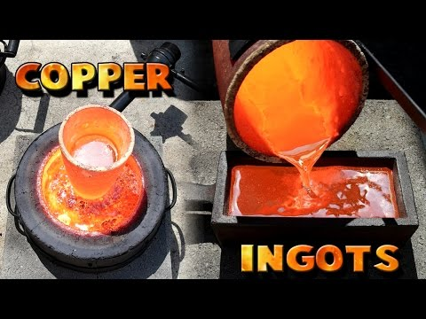 Thumbnail: Making 5 Pound Copper Ingots From Scrap