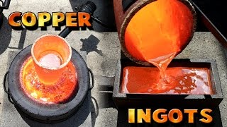 Repeat youtube video Making 5 Pound Copper Ingots From Scrap