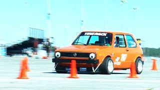 Autocrossing an Awesome VW Rabbit