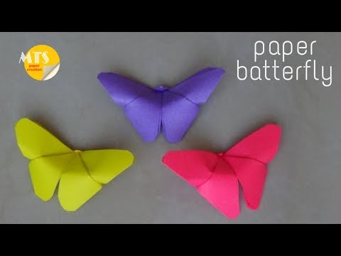 how to make origami paper butterfly || Easy paper butterfly origami