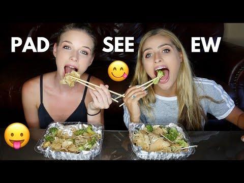 PAD SEE EW (Thai Noodles) MUKBANG! Mukbang Monday