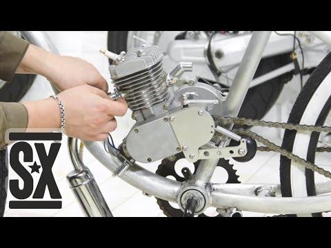 Установка Мотора 80cc на Велосипед