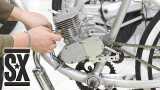 Установка Мотора 80cc на Велосипед(В видео показана установка двигателя 80 кубиков с автоматическим сцепление на велосипед schwinn hornet. Статья:..., 2015-05-04T18:45:49.000Z)