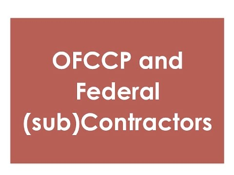 Who is a Federal (sub)contractor according to the OFCCP? | hrsimple.com