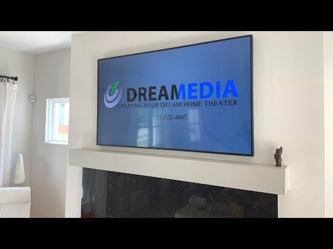 Frank Wall Mounting Samsung Frame ART TV over Fireplace with all wires HIDDEN