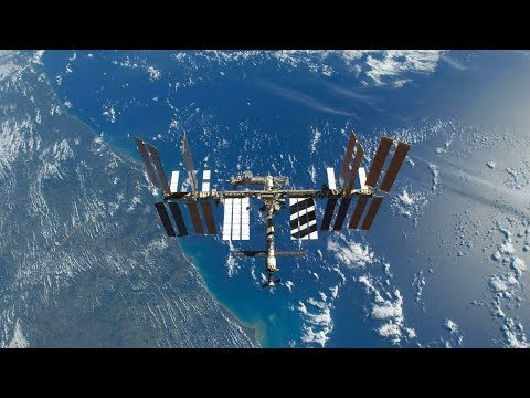 International Space Station NASA Live View With Map - 044 - 2019-08-23