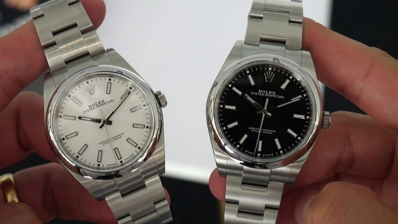 Up Close The Rolex Oyster Perpetual 39mm Black And White Youtube