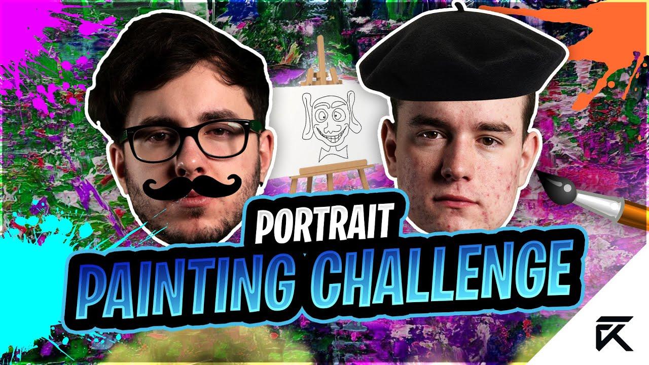 Sendo The Expert Painter | Portrait Painting Challenge ft. Sendo & Taxer