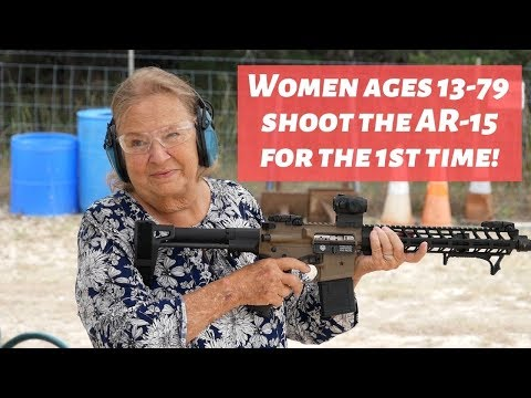 Shooting an AR-15 For The 1st Time - Teens & Grandmas! (ages 13-79)