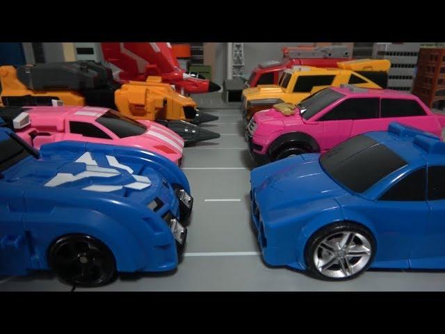 미니특공대X ��차 로봇 변신 장난� 놀� Miniforce X New & Old Car Robot Toys
