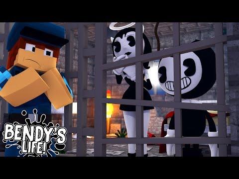Minecraft BENDY'S LIFE!! - BENDY & ALICE ANGEL ARRESTED & LOCKED IN PRISON!!