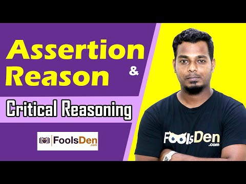 Assertion & Reason | Critical Reasoning | Analytical Reasoni