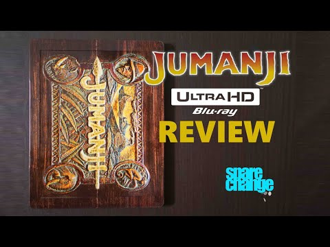 Jumanji 4K (1995) Best Buy Steelbook Bluray Review | Unboxing |  Dolby Atmos