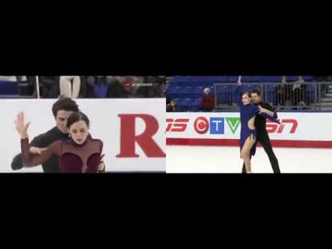 Tessa Virtue / Scott Moir (CAN) FD 2017 vs. FD 2018