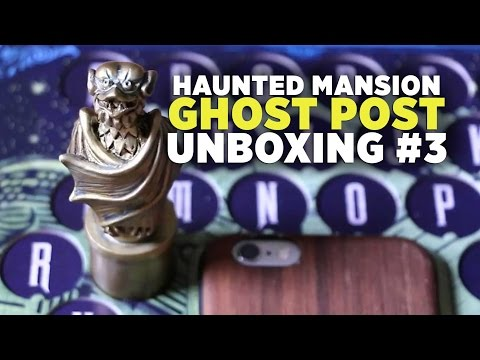 Unboxing Haunted Mansion Ghost Post #3 subscription - Ghost Portal & Finale