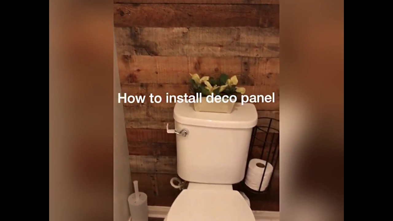 How To Install Decorative Wall Panel Youtube