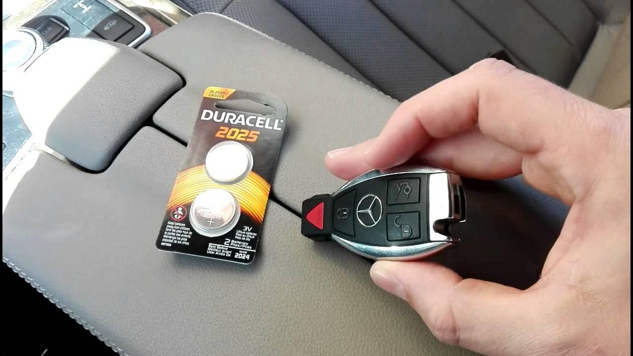 мерседес мл 163 замена батареек в ключе