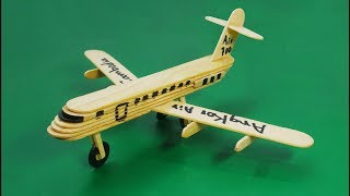 How to make an airplane by popsicle stick ice cream - Civil aviation aircraft