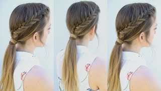 Easy Fishtail Ponytail Hairstyle | Ponytail Hairstyles | Braidsandstyles12