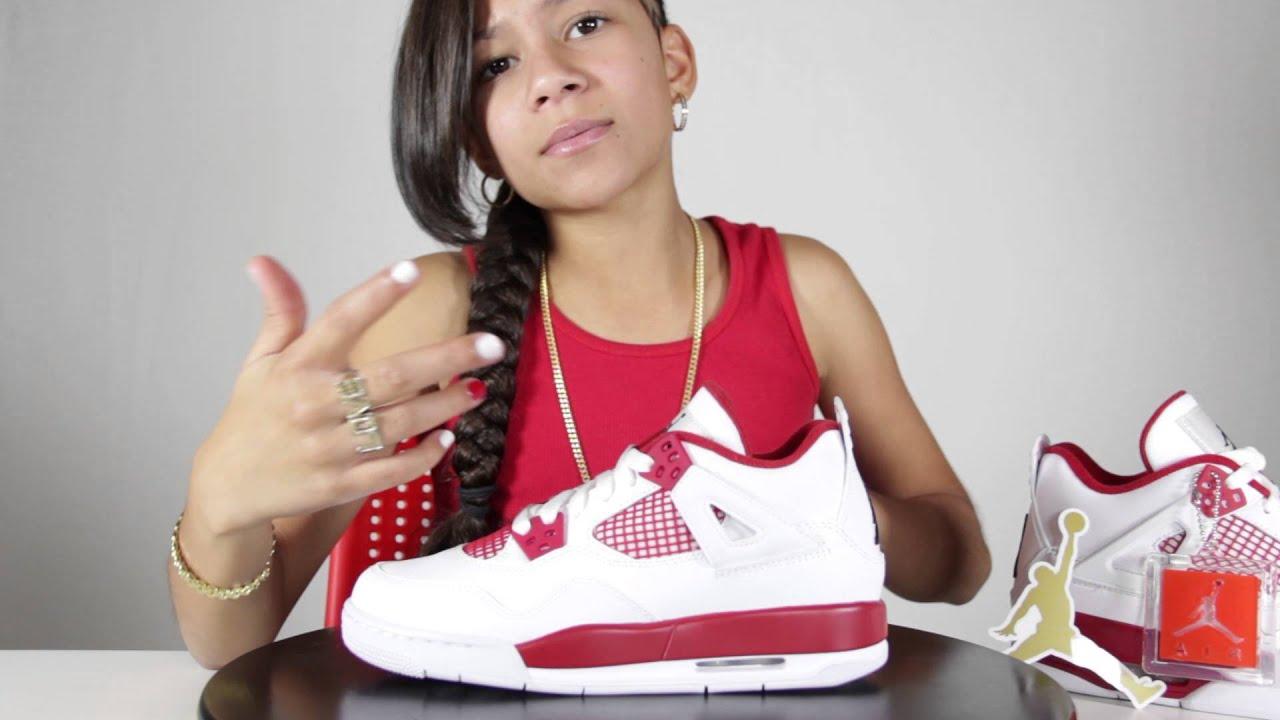 Baby Kaely Air Jordan 4 Alternate 89 Sneaker Review 10yr
