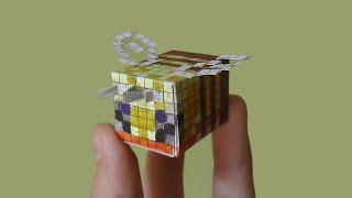 Как сделать пчелу из бумаги | MINECRAFT | BEE