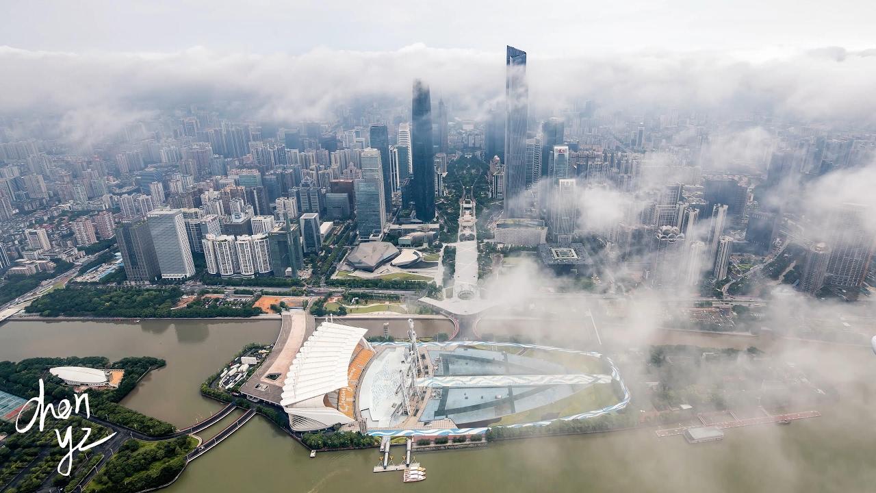 广州 广州塔 延时摄影 4k Canton Tower project 广州 延时 guangzhou timelapse aerial